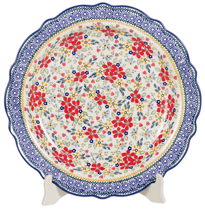 "13.5"" Ornate ""Basia"" Plate (Ruby Bouquet)"