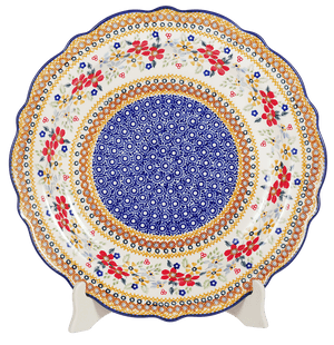 "13.5"" Ornate ""Basia"" Plate (Ruby Duet)"