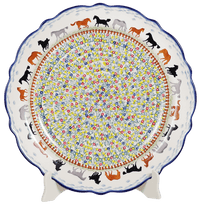 "13.5"" Ornate ""Basia"" Plate (Wild Horses) 