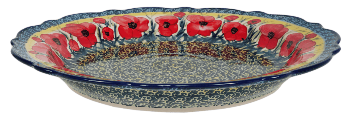 "13.5"" Ornate ""Basia"" Plate (Poppies in Bloom)"
