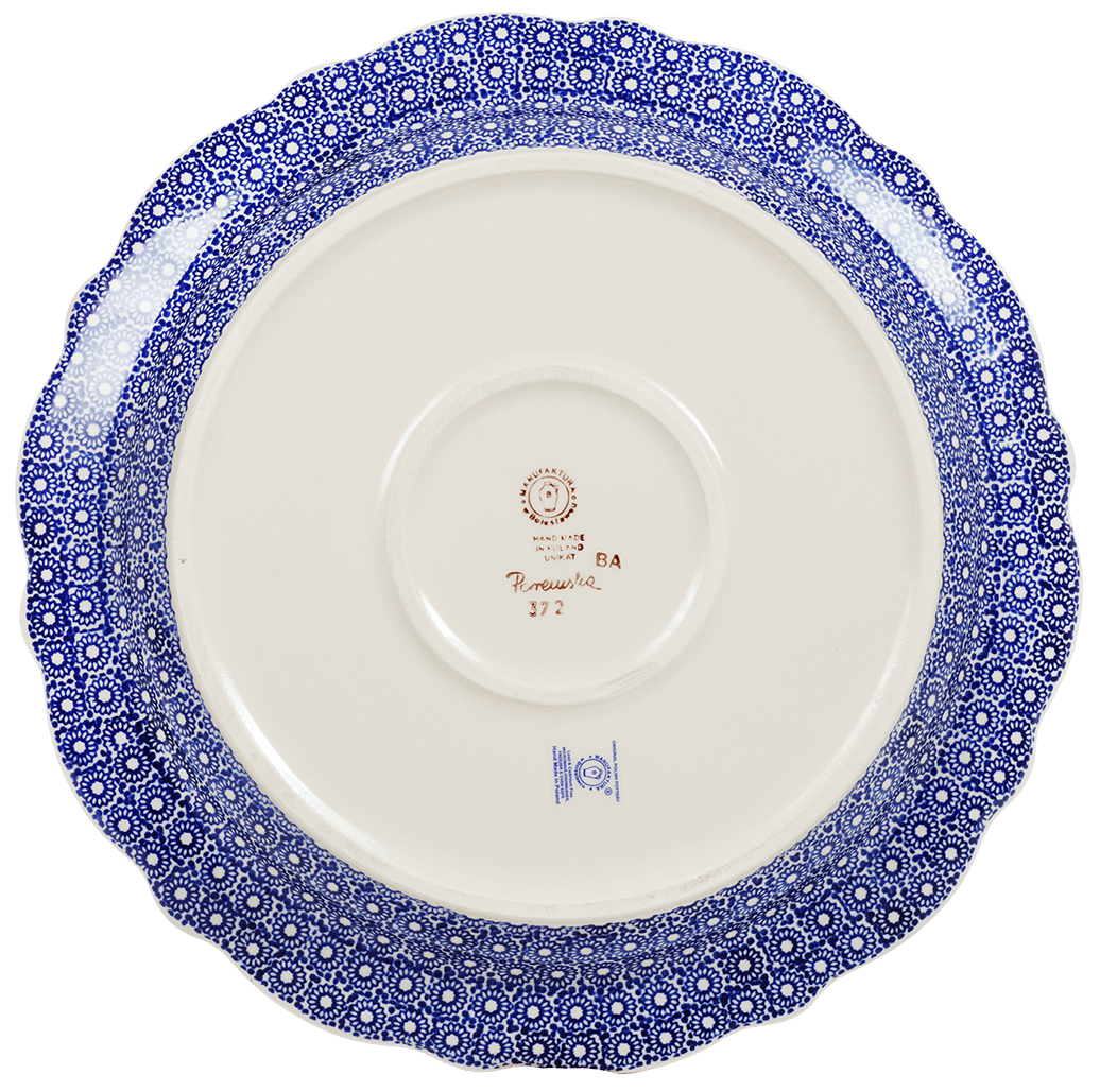 "13.5"" Ornate ""Basia"" Plate (Duet in Blue & White)"