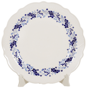 "13.5"" Ornate ""Basia"" Plate (Duet Blue Wreath)"