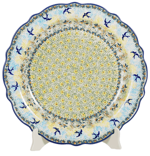 "13.5"" Ornate ""Basia"" Plate (Soaring Swallows)"