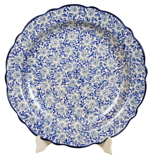 "13.5"" Ornate ""Basia"" Plate (English Blue)"