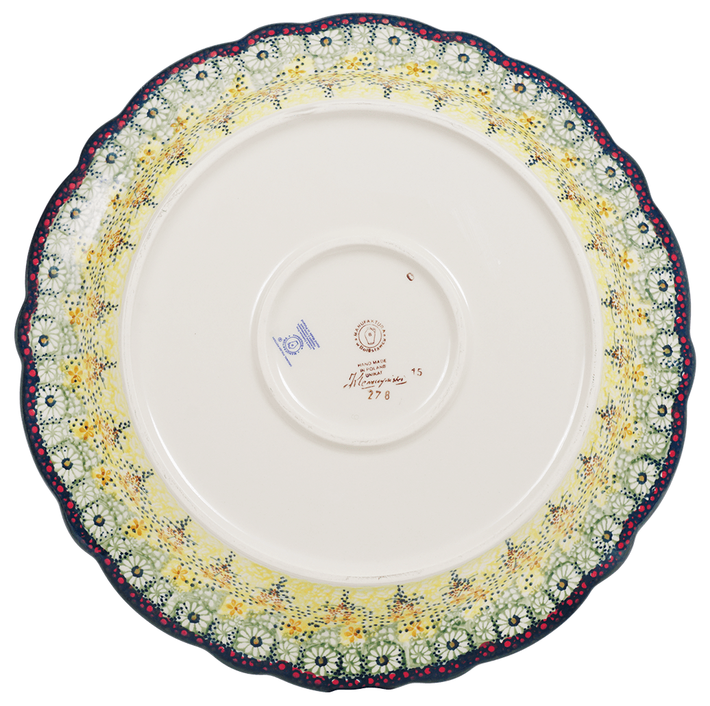 "15"" Ornate ""Basia"" Plate (Sunshine Grotto)"