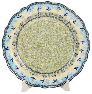 "15"" Ornate ""Basia"" Plate (Soaring Swallows)"