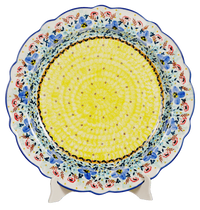 "15"" Ornate ""Basia"" Plate (Blue Violets) 