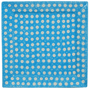 "11.25"" Square Dinner Plate (Dot to Dot - Turquoise)"