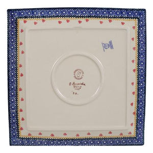 "11.25"" Square Dinner Plate (Ruby Bouquet)"