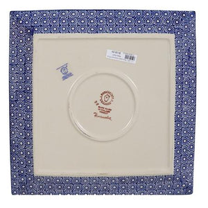 "11.25"" Square Dinner Plate (Ruby Duet)"