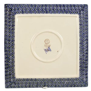 "11.25"" Square Dinner Plate (Lily in the Grass)"