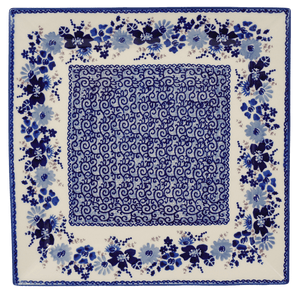 "11.25"" Square Dinner Plate (Blue Life)"