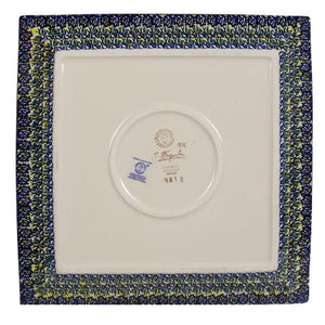"11.25"" Square Dinner Plate (Bundled Bouquets)"