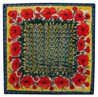 "11.25"" Square Dinner Plate (Poppies in Bloom)"