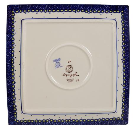 "11.25"" Square Dinner Plate (Pansies)"