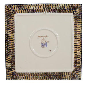 "11.25"" Square Dinner Plate (Bouquet in a Basket)"