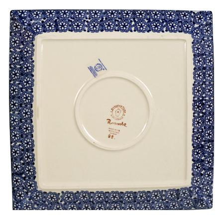 "11.25"" Square Dinner Plate (Poppy Persuasion)"
