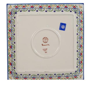 "11.25"" Square Dinner Plate (Mardi Gras)"