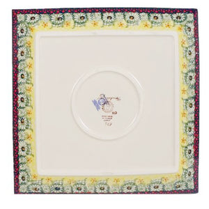 "11.25"" Square Dinner Plate (Sunshine Grotto)"