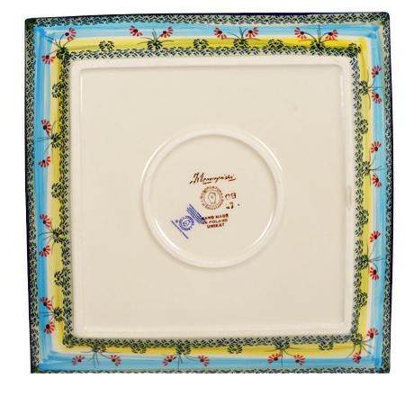 "11.25"" Square Dinner Plate (Butterflies in Flight)"