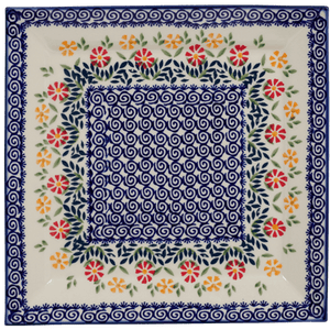 "11.25"" Square Dinner Plate (Flower Power)"