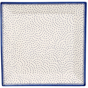 "11.25"" Square Dinner Plate (Misty Blue)"