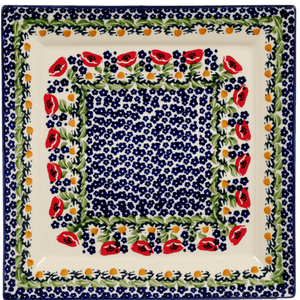 "11.25"" Square Dinner Plate (Poppy Parade)"