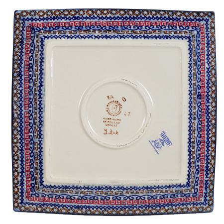 "9"" Square Salad Plate (Sweet Symphony)"