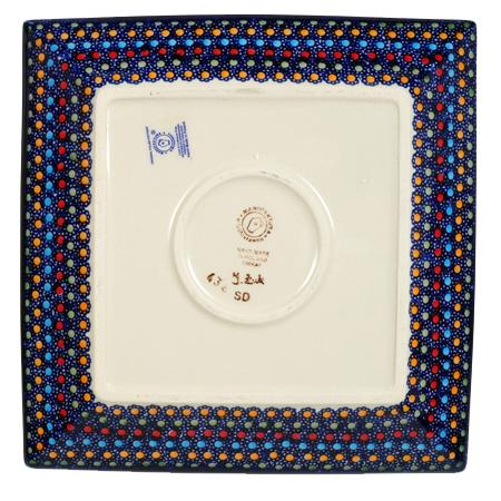 "9"" Square Salad Plate (Neon Lights)"