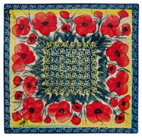 "9"" Square Salad Plate (Poppies in Bloom)"