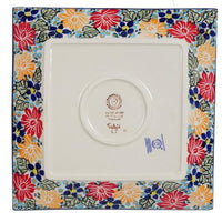 "9"" Square Salad Plate (Evening Bouquet)"