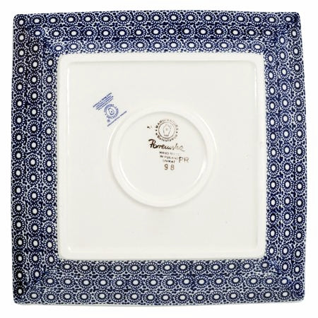 "9"" Square Salad Plate (Duet in Blue)"