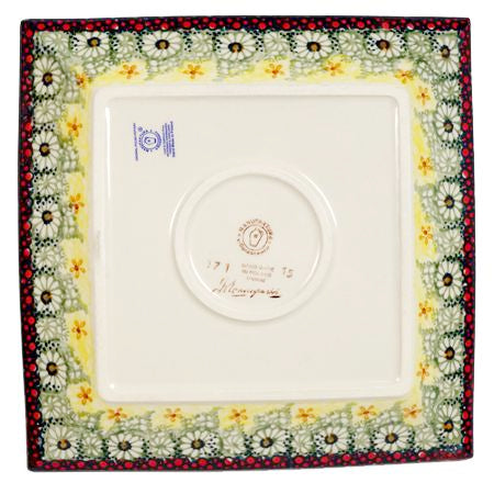 "9"" Square Salad Plate (Sunshine Grotto)"