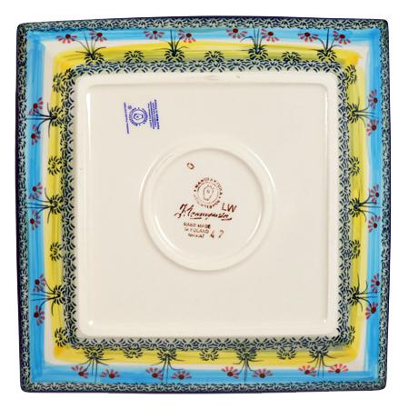 "9"" Square Salad Plate (Butterflies in Flight)"