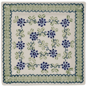 "9"" Square Salad Plate (Woven Blues)"
