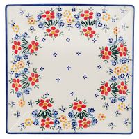 "9"" Square Salad Plate (Fresh Flowers)"
