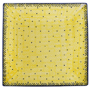 "9"" Square Salad Plate (Sunshine Blue Speckle)"