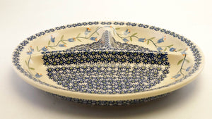 "10.5"" dia. Divided Plate (Lily of the Valley)"