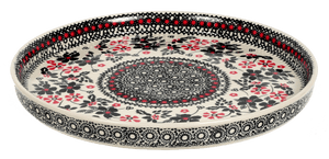 Round Tray (Duet in Black & Red)