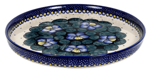 Round Tray (Pansies)