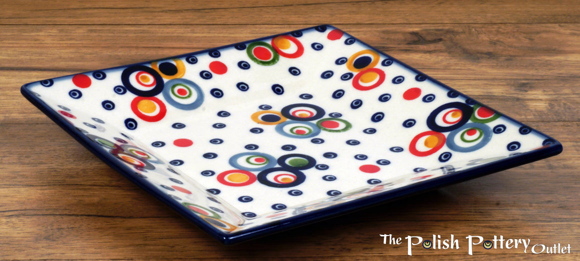 "7"" Square Dessert Plates (Bubble Machine)"