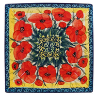 "7"" Square Dessert Plates (Poppies in Bloom)"