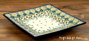 "7"" Square Dessert Plates (Spring Morning)"