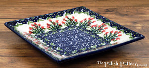 "7"" Square Dessert Plates (Burning Thistle)"