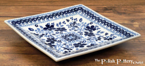 "7"" Square Dessert Plates (Duet in Blue)"