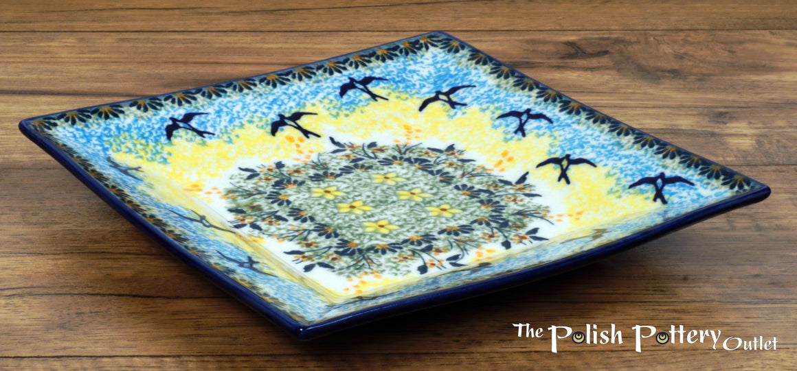 "7"" Square Dessert Plates (Soaring Swallows)"