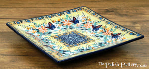 "7"" Square Dessert Plates (Butterfly Bliss)"
