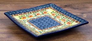 "7"" Square Dessert Plates (Bountiful Blossoms)"