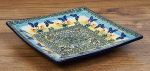 "7"" Square Dessert Plates (Butterflies in Flight)"