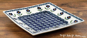 "7"" Square Dessert Plates (Forget Me Not)"
